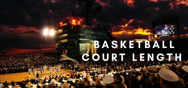 How long is a basketball court – High school, college and NBA court size dimensions.
