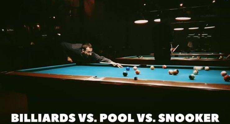 Billiards vs. Pool vs. Snooker