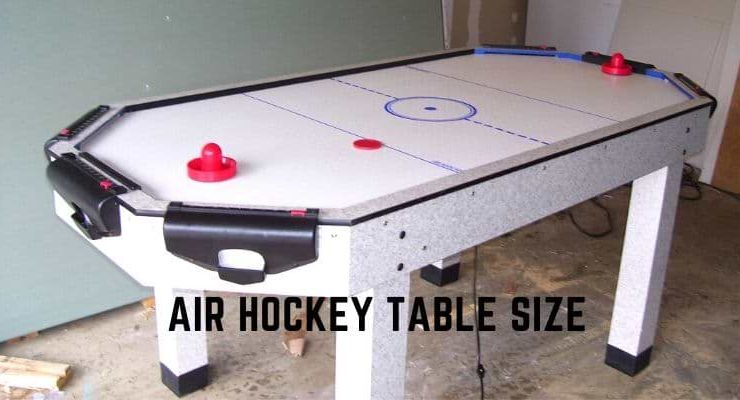 Air hockey table size