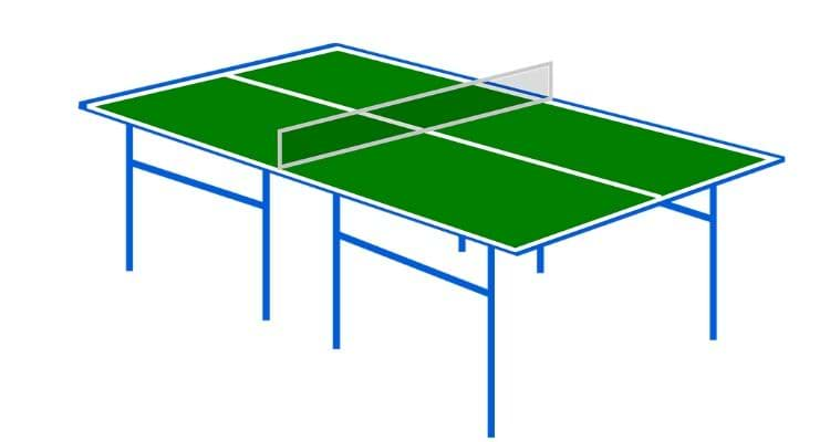 How big is a ping pong table-Ping Pong table size(chart)