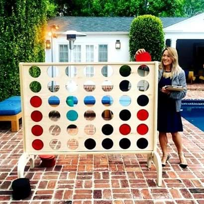 giant outdoor connect four game