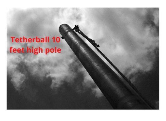 Tetherball 10 feet high pole