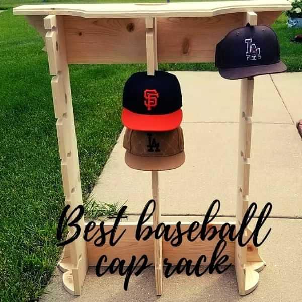 Baseball cap rack holder