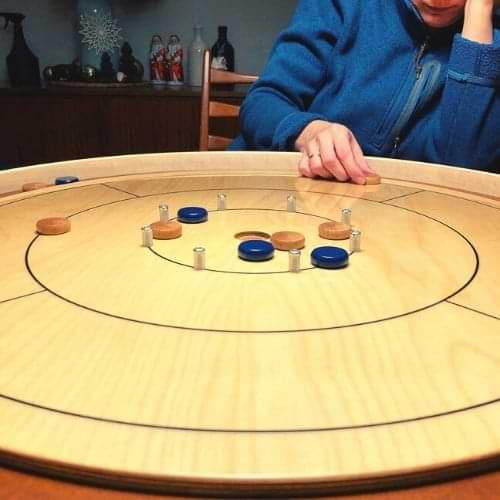 Crokinole board game table