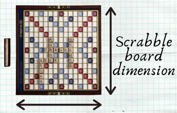 Scrabble board dimension