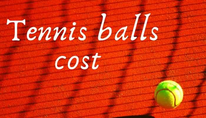 tennis balls cost