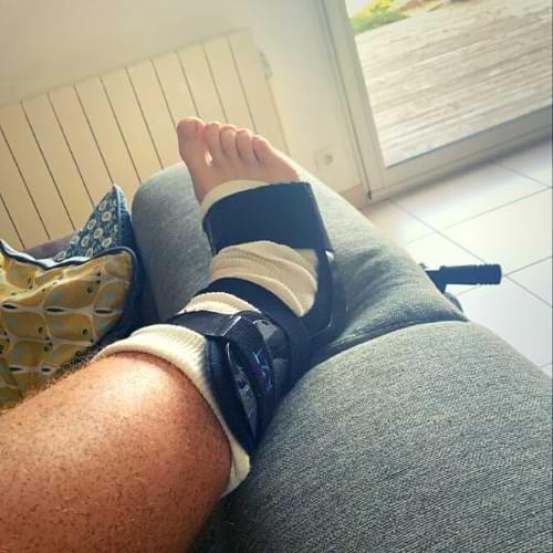 ankle brace setup